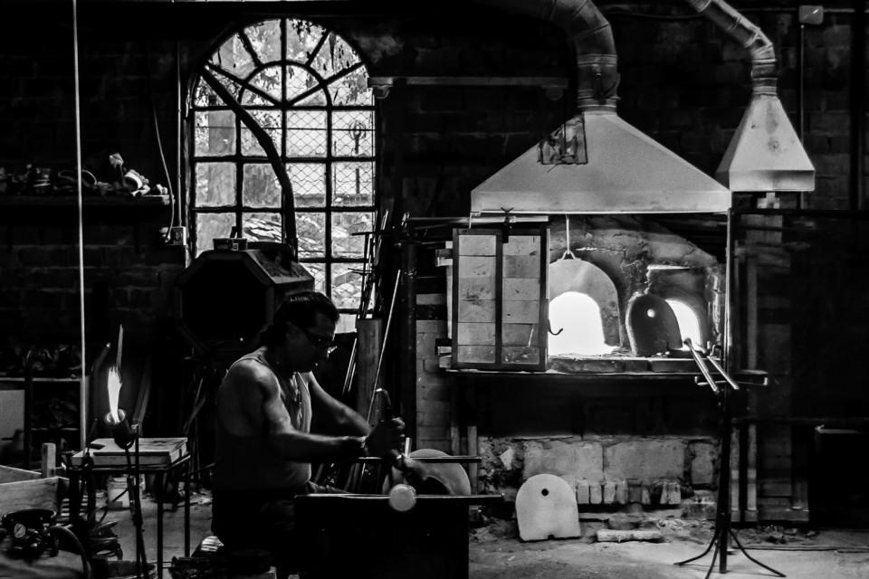 Murano glass worker