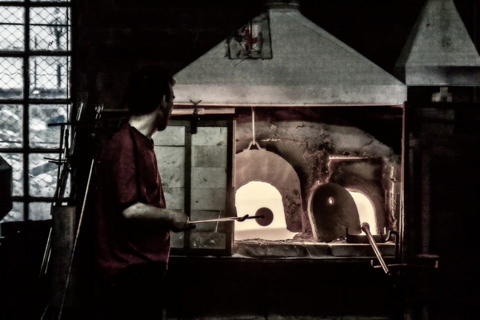 Murano glass worker