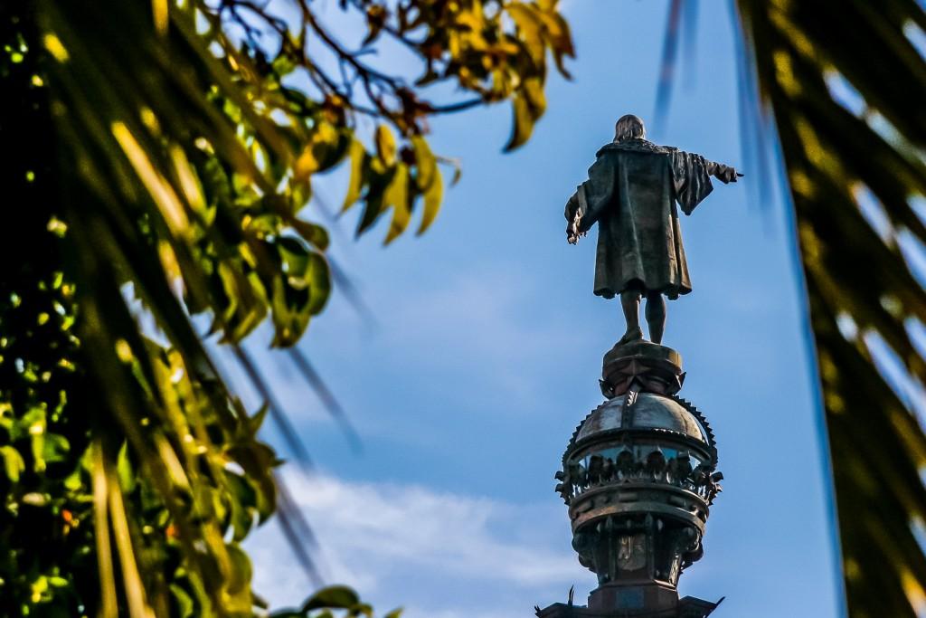 Colon statue. Barcelona