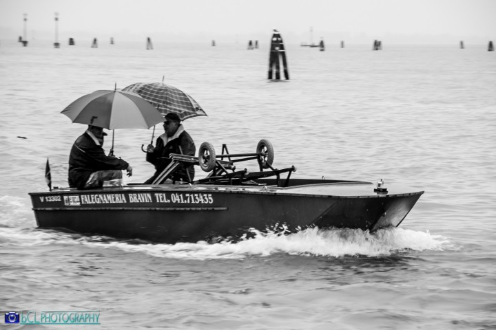 sailing under the rain