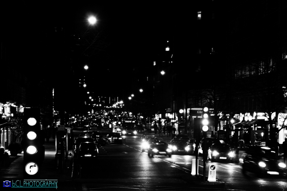 London street at nigh