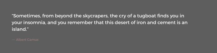 ― Albert Camus